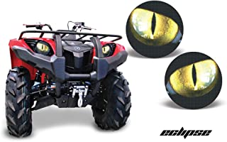 AMR Racing ATV Headlight Eye Graphic Decal Cover for Yamaha Grizzly 660/450/400/350/125 - Eclipse Yellow