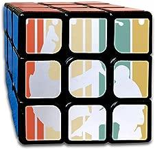 Rubiks Cube, Vintage Style Jiu Jitsu Silhouette Speed Cube 3x3x3, 3x3 Magic Cube Puzzle Toy