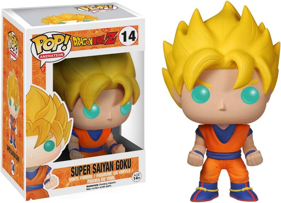 Amazon Com Funko Pop Dragon Ball Z Vinyl Figure Super Saiyan Goku Funko Pop Animation Toys Games