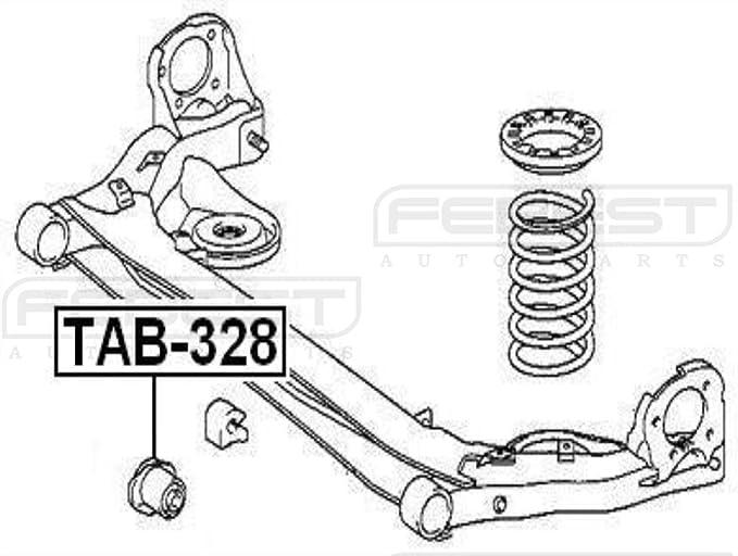 2003-2009 Crossmember Bushing For Toyota Sienna Gsl20