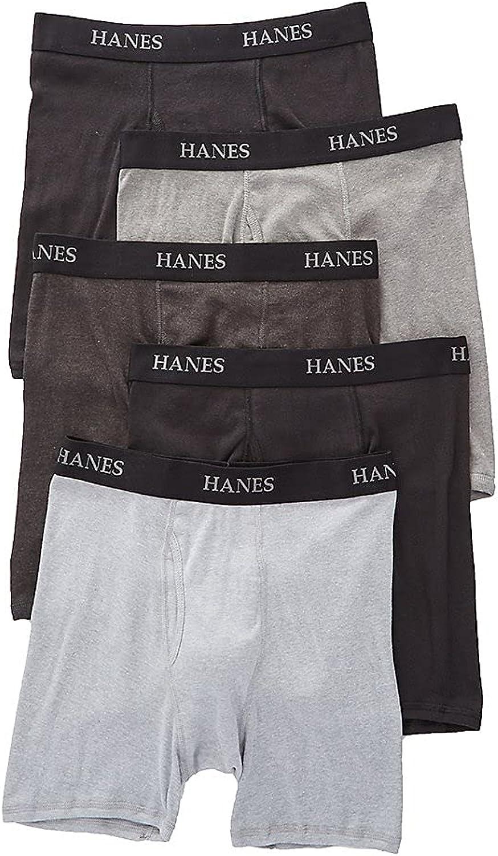 Hanes Men's Platinum Core Boxer Briefs - 5 Pack Y692B5