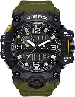 Digital Men Wrist Watch, Military Tactical Waterproof Analog Quartz Watches for Men, Large Face Dual Display LED Watch, Sports Watches for Surf and Skate