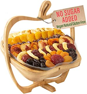 Oh! Nuts Christmas Gift Baskets Healthy No Sugar Added Huge Assortment of Dried Fruit Gourmet Holiday Thanksgiving Family ...