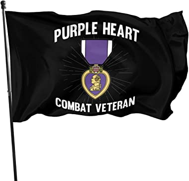 Purple Heart US Army Veteran Military Medal Outdoor Flag Home Garden Flag Banner Breeze Flag USA Flag Decorative Flag 3x5 Ft