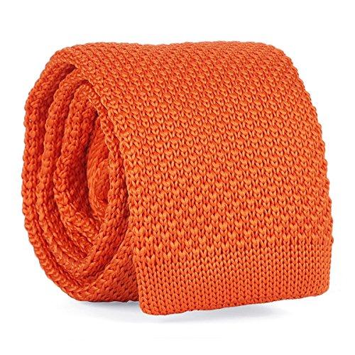 Cravate Tricot Orange - Cravate Maille Tendance