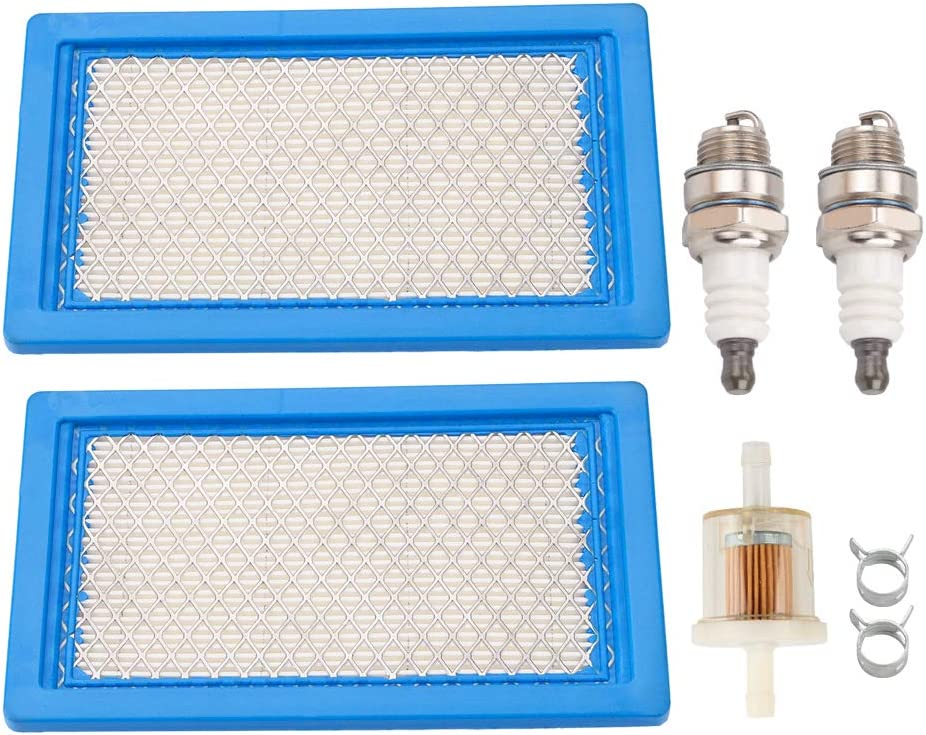 Leopop 11013-7017 Air Filter Compatible with Kawasaki FH381V FH430V John JD MIU10998 X300 X300R X304 Lawn Mower Husky 531308157 2153800 03748502 Pack-of-2