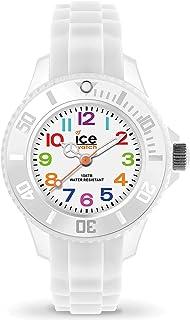 Ice-Watch - Ice Mini White - Montre Blanche pour Garçon (Mixte) avec Bracelet en Silicone - 000744 (Extra Small)