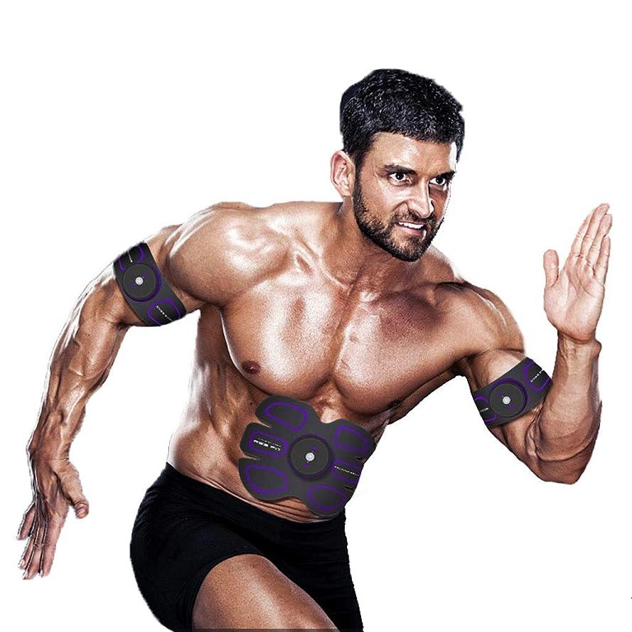 維持掃除レディEMS ABSトレーナー、腹部調色ベルトAbトナーEMSマッスルスティミュレーター、マッスルトナーフィットネストレーニングギア(男性用)女性腹部&アーム&レッグトレーナー