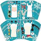 partyGO Make A Llama Stickers 24pcs, Llama party games, Cute Llama Make-an-Animal Face Stickers for Kids Llama Party Supplies, Creative Craft Stickers for Designing Favorite Llama