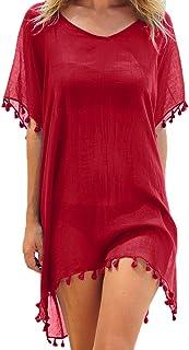 traje de baño talla grande premamá embarazada top señora pareo playa brasileña comodo oferta barato verano 2019 Todo de Rojo