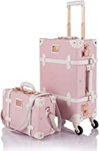 COTRUNKAGE Vintage Trunk Luggage Set TSA Lock Carry On Suitcase for Women (13