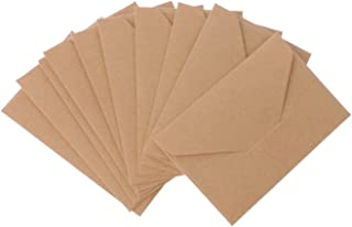 50 pcs/lot Black White Red Kraft Paper Envelopes Vintage European Style Envelope For Business Card Invitation (Color : KH)