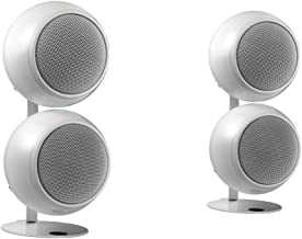 Orb Audio Mod2X QuickPack - Satellite Speakers and Desk Stand, Pearl White Gloss