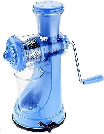 GOCART Plastic Fruit and Vegetable Juicer with Steel Handle (Blue)