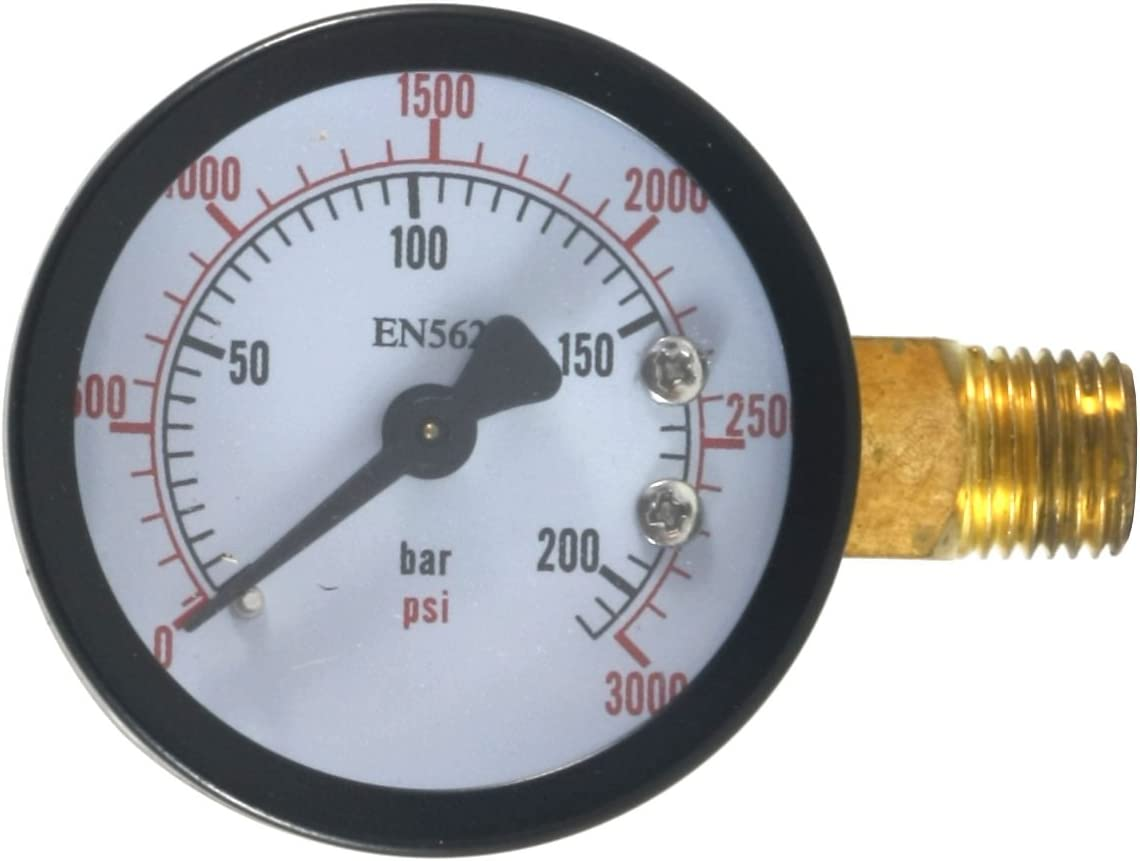 Dedenbear Products GHP High Pressure Gauge for CO2 Regulator