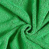 Frotteestoff – grasgrün — Meterware ab 0,5m —