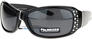 Anti Glare Polarized Womens Rhinestone Oval Rectangular...