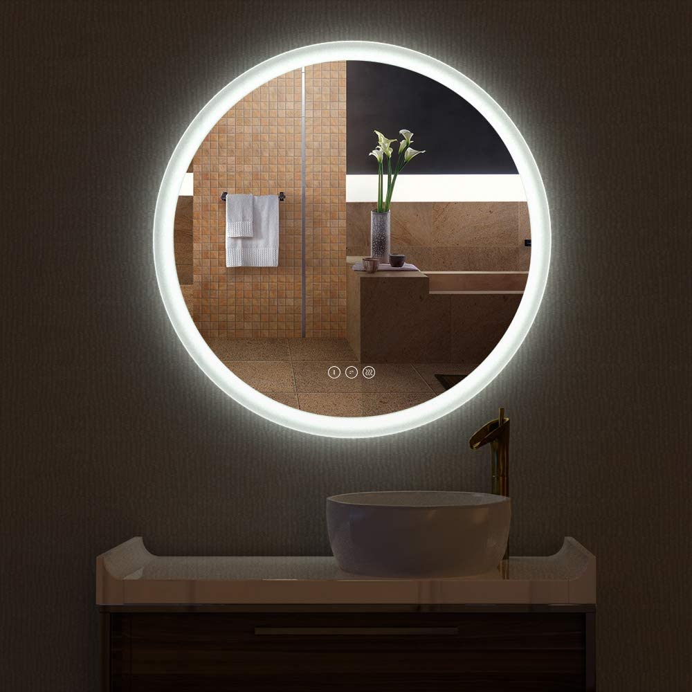 HAUSCHEN HOME R30 inch LED Bathroom Mirror Mounted Wall Cheap super Beauty products special price Hig with