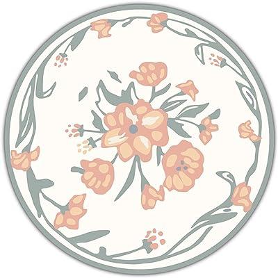 ZHAOHUI Tapis Circulaires, Tapis de Sol Lavable D'intérieur Antidérapant Facile À Nettoyer, Format Personnalisé Tapis Rond pour Le Salon, La Chambre, Le Bureau (Size : 100CM)