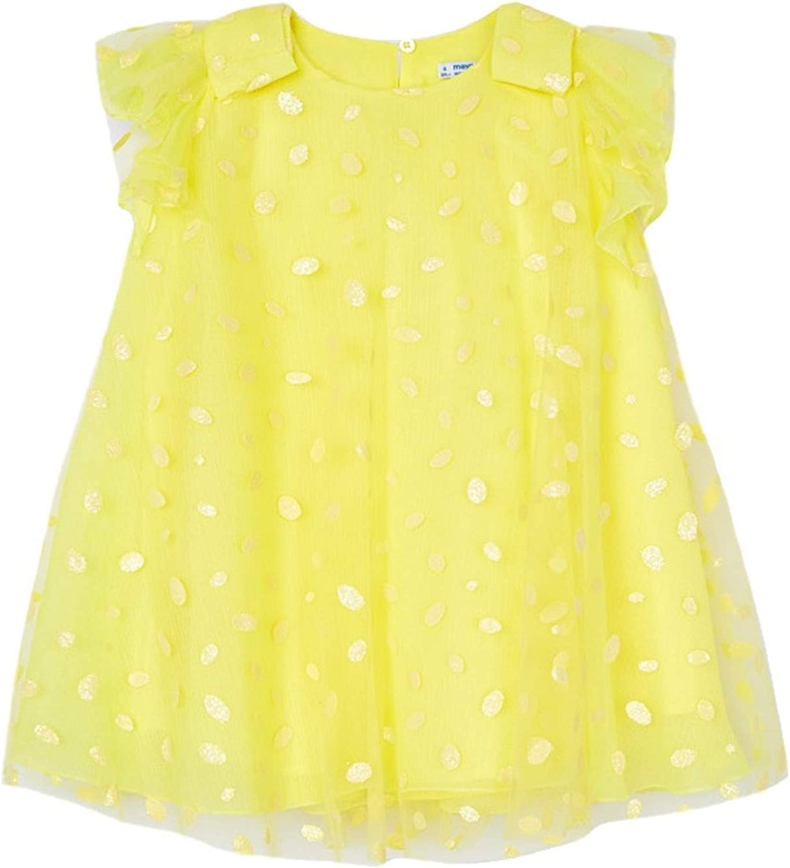 Mayoral - Glitter dots tul Dress for Girls - 3912, Yellow