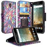 Galaxy Wireless Compatible for ZTE Prestige 2 Case/Prestige/Maven 2/ Avid Trio/Avid Plus/Sonata 3/ Chapel Z833 Diamond Hybrid Defender Protective Case Cover - Rainbow Flower