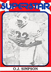 O J Simpson Football Card (Buffalo Bills Hall of Famer) 1982 Superstar #70