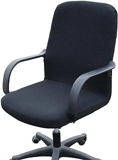 comprar comparacion Funda MiLong para silla de oficina. Funda el�stica y extra�ble, elastano, negro, Small