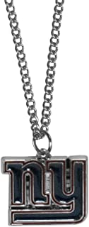 Siskiyou Sports NFL New York Giants Chain Necklace with Small Pendant, 20
