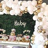 WINAROI Arco Globos ,70 Pcs Feliz Decoración Fiesta Cumpleaños con Globos Dorados,Confeti Globos y Globos Blanco por Baby Shower, Decoracion de Boda,Adornos Cumpleaños