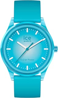 Ice-Watch - Ice Solar Power Blue Planet - Montre Bleue Mixte avec Bracelet en Silicone - 017769 (Medium)