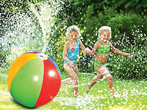 Poolmaster Splash and Spray Beach Ball Sprinkler Water Toy