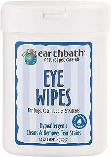Earthbath Toallitas Completamente Naturales Especialmente para el Aseo de los Ojos, 25 toallitas