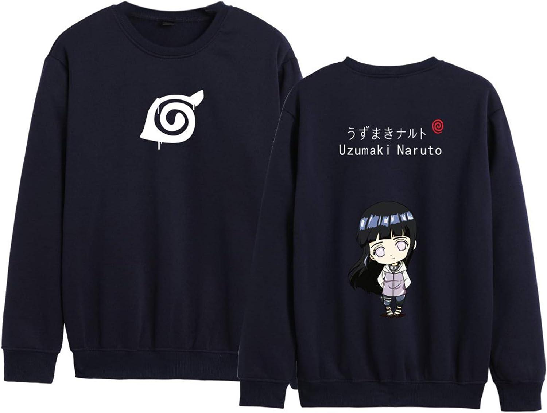 kewing Unisex Anime Naruto Paar Langarm Pullover mit Rundhalsausschnitt Uzumaki Naruto Hyūga Hinata Br/üder und Schwestern Pullover Sweatshirts