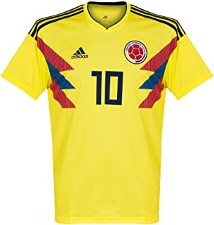 adidas Colombia 2018-2019 Home James 10 Jersey - Yellow-Medium
