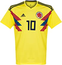 adidas Colombia 2018-2019 Home James 10 Jersey - Yellow-Large