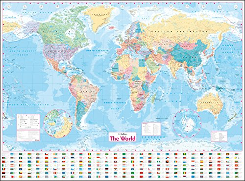 Collins World Wall Laminated Map [Idioma Inglés]
