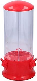 alpina Distributeur de bonbons - Bonbons chewing-gum - Cacahuètes et céréales - 3 compartiments - 29 x 13 cm - Rouge