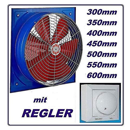 550 mm - Ventilador industrial con 600 W regulador de velocidad axial pared ventilador ventilador ventilador empotrable para ventilador ventilador axial Ventilador Axial ventiladores 55 cm 230 V 230 V