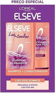 Kit Shampoo 375ml + Condicionador 170ml L'oréal Paris Elseve Liso dos Sonhos