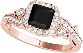 Best gold princess cut engagement rings Reviews