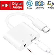 USB C/Type C to 3.5mm Audio Auxiliary Adapter 2 in 1- Headphone Converter - PD60W Fast Charging, Hi-Res Sound, Compatible with Google Pixel 2 / 3XL, 2018 Ipad Pro, HTC, Huawei, Samsung and More