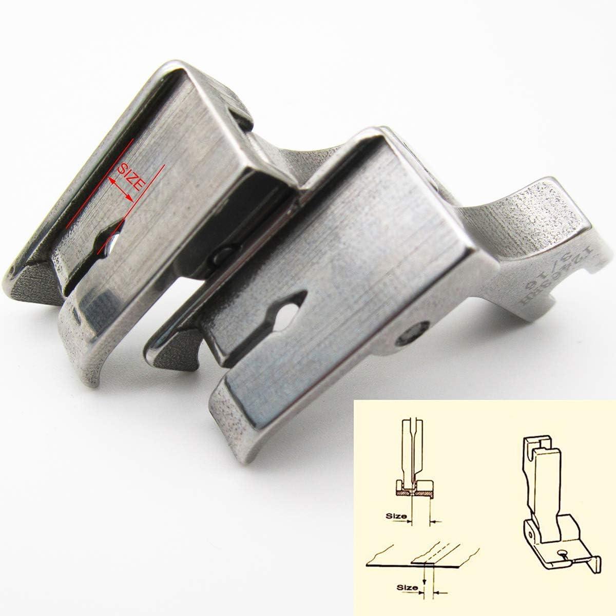 CKPSMS Brand # 12463HR Piedino per sollevamento destro con guida per punto superiore per macchine da cucire industriali ad ago singolo 1//2
