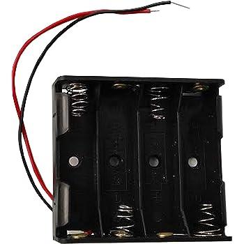 Portapilas 4 Pilas 6v Caja de batería para 4 Pilas AA 6V: Amazon ...