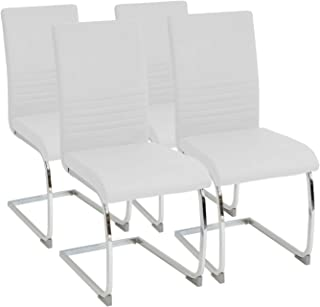 comprar comparacion Albatros Silla Cantilever BURANO Set de 4 sillas Blanco, SGS Probado
