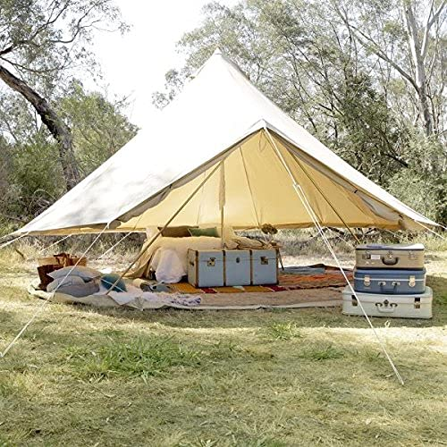 Psyclone- Canvas Yurt Large Bell Tent with Removable Floor