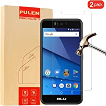 [2 Pack] PULEN for BLU R2 Screen Protector,0.3MM Slim and 9H Hardness Tempered Glass [Anti-Scratch] [Bubble Free] Extreme Hardness with Lifetime Replacement Warranty