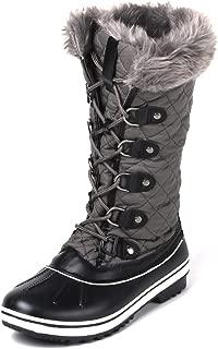 EMERCLY Women's Warm Faux Fur Mid-Calf Winter Snow Boots