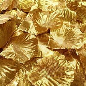 TheBigThumb 100pcs Artificial Rose Petals, Artificial Silk Rose Flower Petals Wedding Table Confetti Bridal Party Decoration Bridal Shower Favor Centerpieces