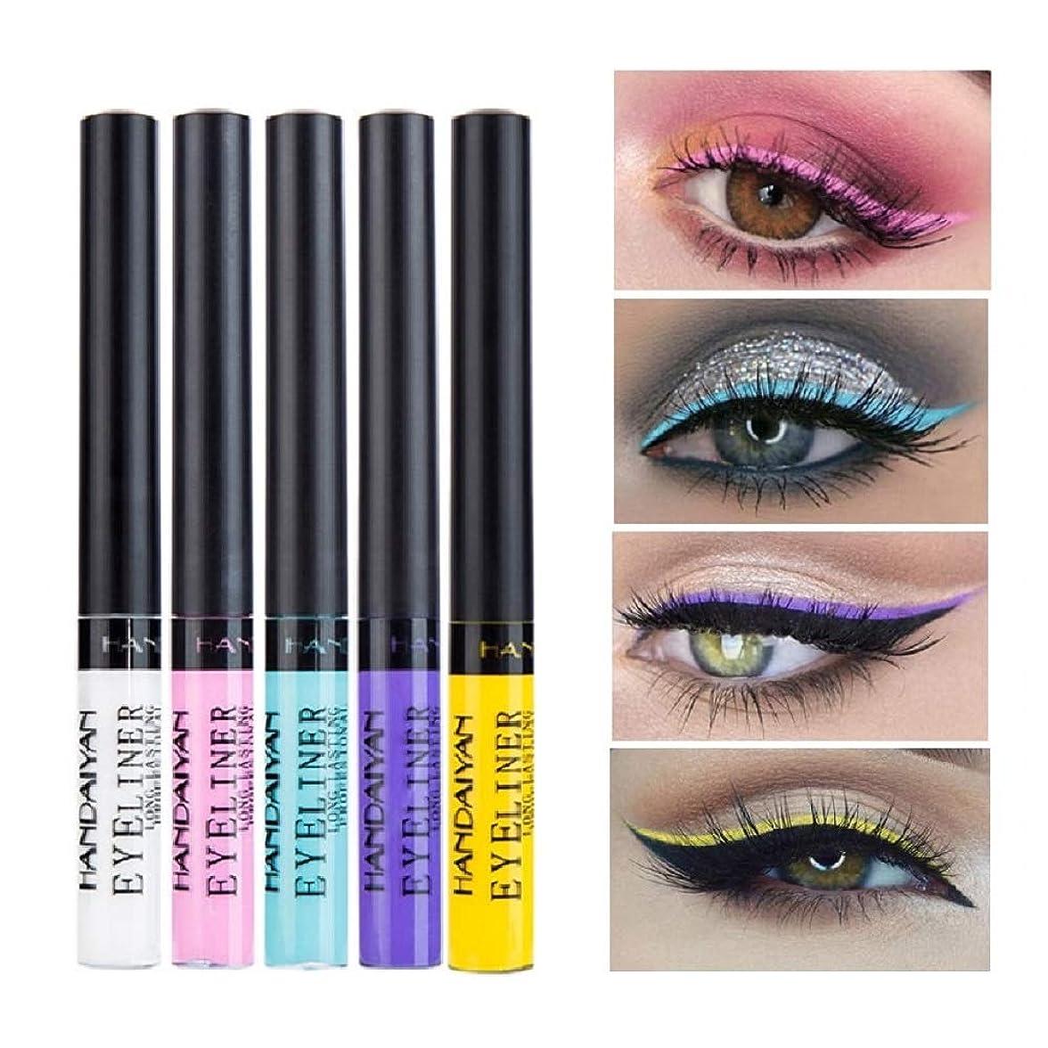 結果として否定するバッチ5color/set Colorful Liquid Eyeliner Matte Tint Long Lasting Waterproof Makeup Easy To Wear Eye Liner Liquid Cosmetics カラフルな液体アイライナーマットティントロングラスティング防水メイクアイライナー液体化粧品