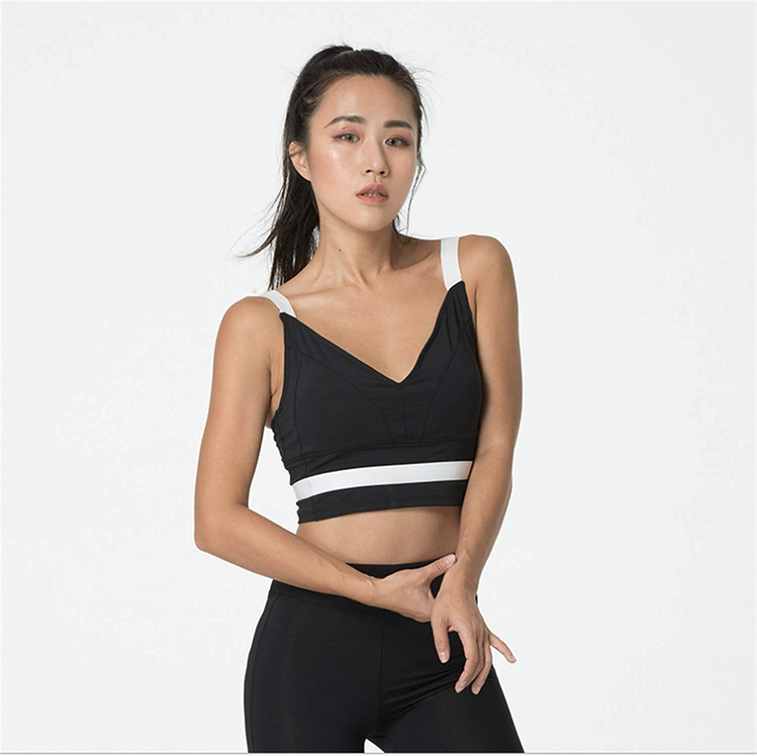 Yoga Bra Womens Sports Cross Straps Back Women Girl High Impact Gym Workout Padded Breathable Running